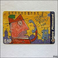 Telstra Fun Card Blah Blah Blah P967123a 1350 $10 Phonecard (PH3)