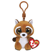 "TY Beanie Boo's Collection - Rusty - Raccoon, Keychain 3"""