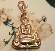 Gold Love Buddha shakyamuni Clip On Charm / Pendant Mala counter Bume Bumi Bhum