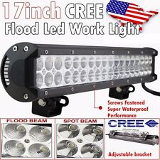 17Inch 108w CREE Led Work Light Bar Flood Spot Offroad Driving Truck SUV 4WD ATV
