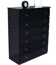 Assembled Retro modern TallBoy/Chest Drawers/Black/Imperfect