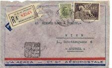 URUGUAY AUSTRIA 1933 AIR MAIL REG. MONTEVIDEO FRANKED $1.50 PEGASUS Sc. #C56 TO