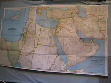 MIDDLE EAST MAP + EARLY CIVILIZATIONS HISTORY National Geographic September 1978