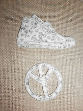 ECUSSON  BASKET / PEACE  LIBERTY   GRIS   THERMOCOLLANT