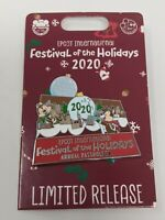 Disney Chip And Dale 2020 Epcot Festival Of The Holidays LR Passholder Pin