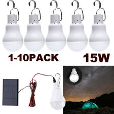 15W Rechargeable Bulb Light Solar Powered Camping Tent Lamp Out/Indoor Emergency