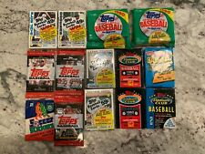 1984 Topps and other misc years unopened baseball cards 14 packs & 1 soccer pack
