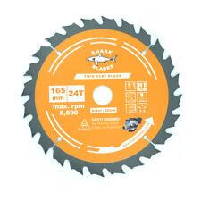 Circular Saw Blade 165 x 24T Thin Kerf 1.6mm TCT For Cordless saws Shark Blades