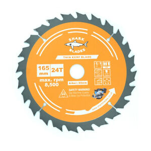 Shark Blades 165mm x 24T TCT Cordless Circular saw Blade for DeWalt Makita ETC