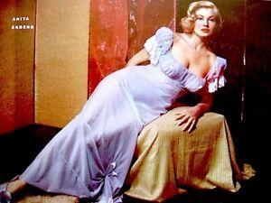 Anita Ekberg 1953 Vintage Pinup Litho Joy Lansing Ab Lane Cleo Moore Photo COA
