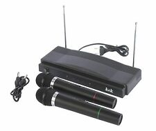 Karaoke Anlage Kabelloses Wireles Funk Mikrofon Set System Karaoke Set F28