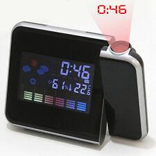 NEWEST DIGITAL PROJECTION SNOOZE ALARM CLOCK LED BACKLIGHT WEATHER STATION gbb1