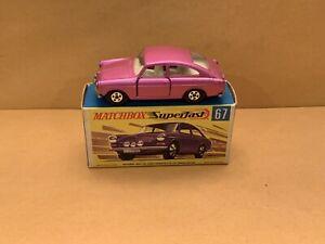 Vintage Matchbox Superfast No. 67 Volkswagen 1600 TL Pink Body