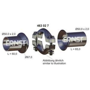 1 Kit de réparation, tuyau d'échappement ERNST 463027 convient à