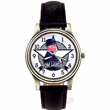 Tom Landry Dallas Cowboys NFL Fossil New Unworn Watch, Collectable #XX/2500 $79