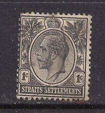 Straits Settlement 1921 - 33 KGV 1ct Black SG 218  ( 403 )