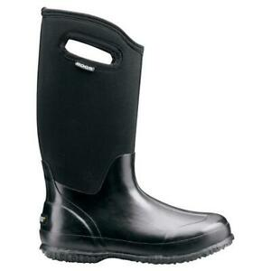 BOGS Classic High Womens Insulated Gumboots in Shiny Black