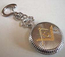 Men's Silver/GoldFinish fashion Mason casual clip on  Pocket Watch