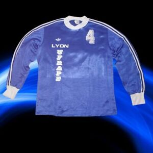 BRILLANT BLUE ADIDAS VINTAGE LONG-SLEEVED FOOTBALL SHIRT POLYAMID SIZE M