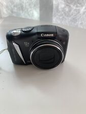 Canon PowerShot SX130 IS 12.1 MP Digital Camera 12X - Black GREAT COND TESTED