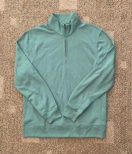Mens XL Nike Dry Player Half Zip Golf Top Mock LS Shirt Jade Green CU9826-316