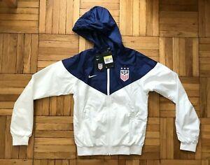 Size Small New Womens Nike USA USWNT 4 Star Soccer Jacket White Blue CQ8411-101