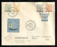 SWEDEN 1995, CENTENARY OF FIRST STAMPS, STAMP ON STAMP, Scott 479-483 on FDC
