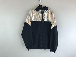 Men's Saks Fifth Avenue Modern Metallic Colorblock Jacket, Size S - Navy/Silver