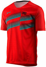 100% Airmatic Men's MTB Jersey: Red LG