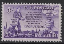 Scott 1015- Newspaperboys, Newspaper Boy and Torch- MNH 1952- unused mint stamp