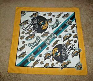 Vintage Jacksonville Jaguars Team Logo Fan Scarf Bandana 1995 Rare Collectible