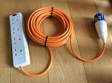 10 meter 4 Way Electric Hook Up Lead - Orange Cable - C&ing Caravan Tent Power : electric hookup for tents - memphite.com