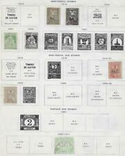 7 Romania Back of Book Stamps from Quality Old Album 1887-1922