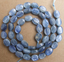 """6x8mm Natural Blue Kyanite Oval Loose Beads 15.5"""""""