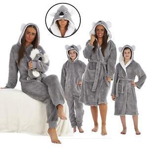Ladies Girls Mum & Daughter Matching KOALA Snuggle Fleece Dressing Gown 1Onesie
