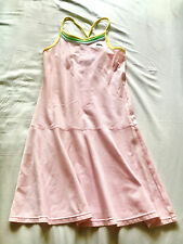 baby pink authentic lacoste girls lady's tennis dress multi color straps size 12