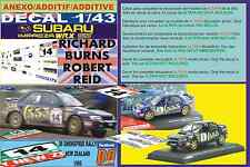 ANEXO DECAL 1/43 SUBARU IMPREZA 555 R.BURNS R.NEW ZEALAND 1995 DnF (07)