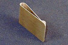 Money Clip ~ Brushed Steel, Full-Face Rectangular Engraving Space #5320290