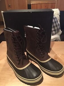 NEW Sorel Mens Size 1964 Premium T Snow Boots Tobacco Brown Leather Size 11