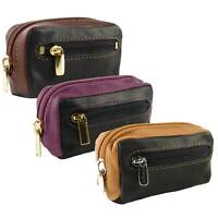Ladies Handy Zipped Coin Purse Soft Smooth Leather by Golunski; Zen Collection 3