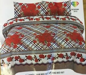 Bed Sheet King Size Set Top Quality # 3512 (Free post in UK)