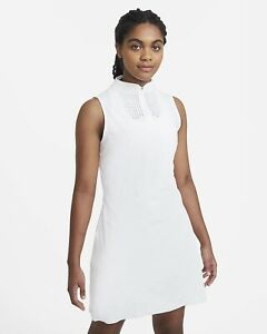 Women's Golf Dress Nike Flex Ace White $120 Sleeveless DC0354-100 Size Small