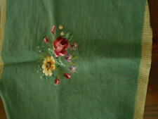 New listing Two Antique Vintage Needlepoint Tapestry Seat Chair Cover Floral Design
