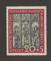 Germany stamp #B317, MNHOG, XXF, 1951, semi postal, BOB, SCV $80