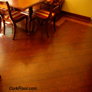 4 Cork Wood Samples -Colored 100% Cork Flooring