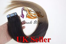 """20"""" 70g 8A Russian Slavic Remy Double Drawn Tape-In Human Hair Extensions UK"""