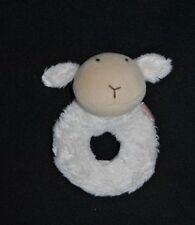 Peluche Doudou Mouton NATALYS Beige Hochet Grelot 13 Cm TTBE 2 Disponibles