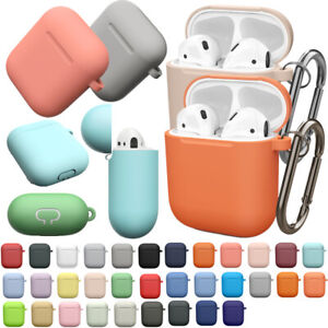 2 Pack Airpods Charging Case Silicone Shockproof Cover Holder For Apple Airpods