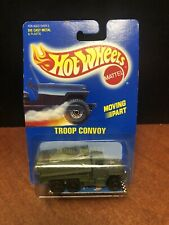 Hot Wheels 1990 Blue Card Troop Convoy #7 With Protector RARE Dela3467