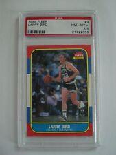 1986 Fleer Basketball Card #9 Larry Bird - PSA 8.5 - NM/MT